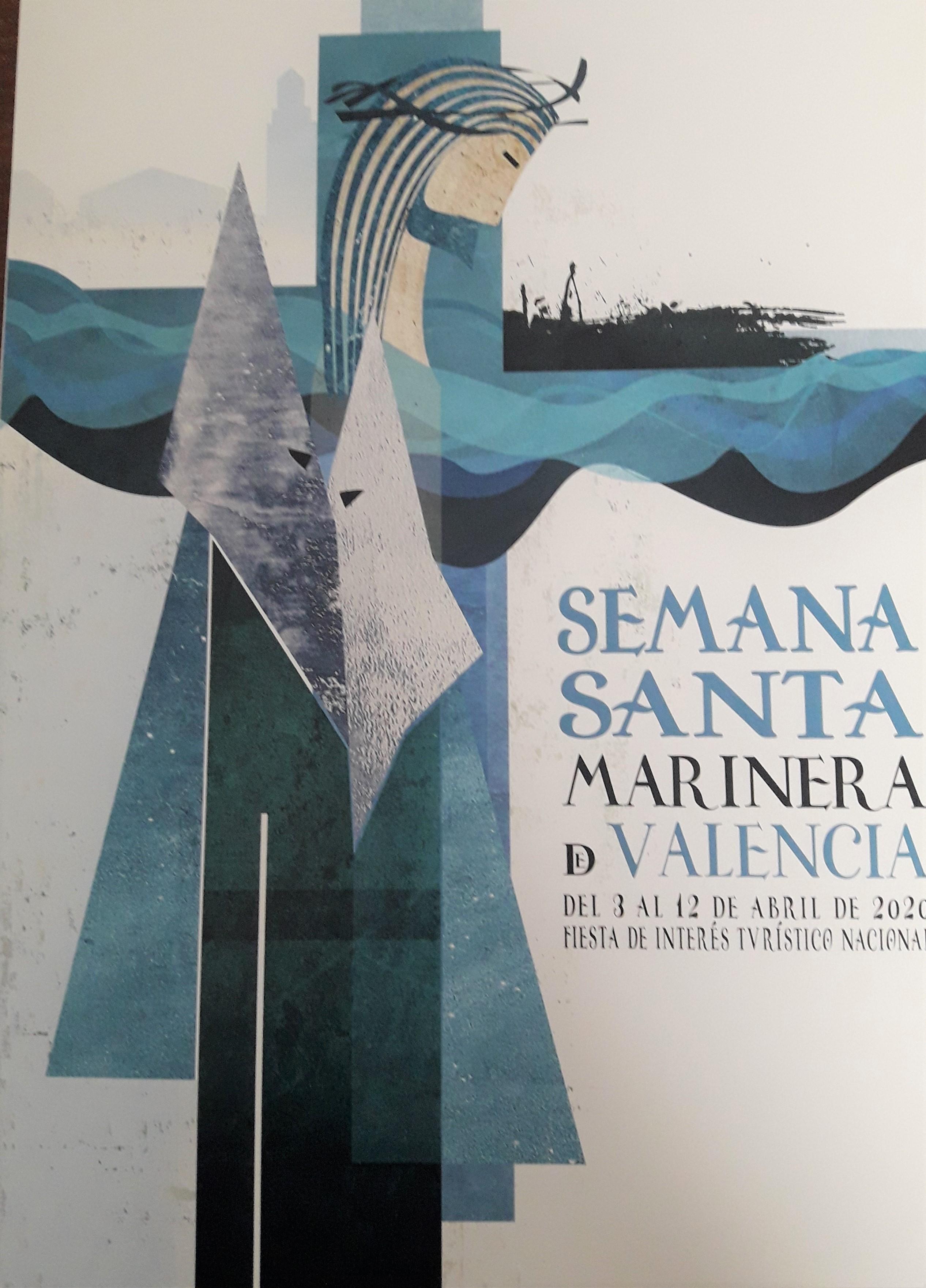 L'obra Mariner de Javier Chaler Villanueva, cartell de la Setmana Santa Marinera de València 2020