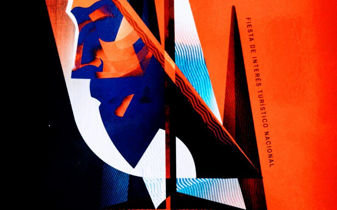 La obra Pasión Geométrica cartel anunciador de la Semana Santa Marinera de València 2021