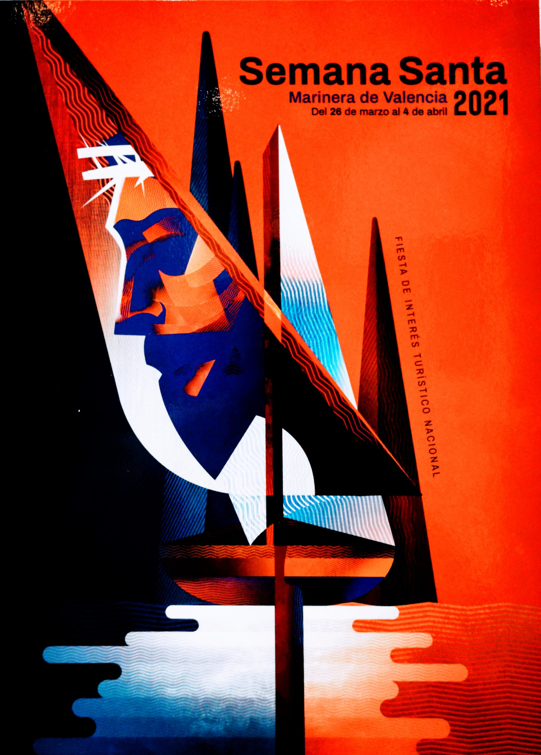 L'obra Passió Geomètrica cartell de la Setmana Santa Marinera de València 2021