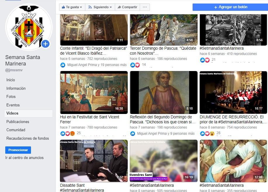Més de 120.000 persones, públic de les xarxes socials de la Setmana Santa Marinera 2020